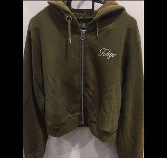 Tokyo cropped embroidered hoodie