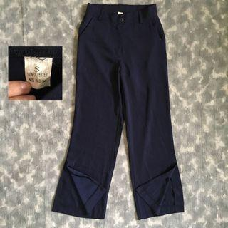 Navy slit cullotes