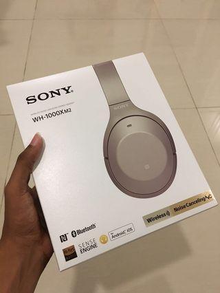 Sony WH1000-MX2 Noise-Cancelling Headphones (Gold) #EST50