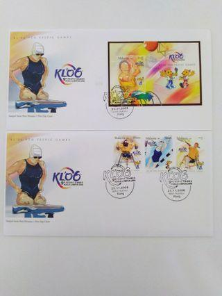 First Day Cover-2006 KL 9th Fespic Games
