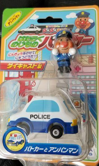 清貨全新Anpanman麪包超人警車車仔