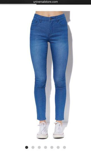LEE ULTRA BLUE MID RISE JEANS
