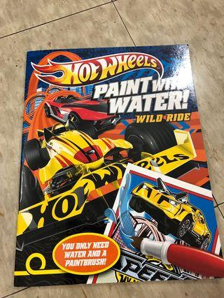 Hot wheels water coloring book