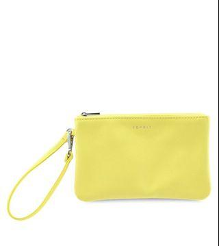 🚚 ESPRIT Small Clutch 100% Polymet Cool Bright Yellow ZWDRSC