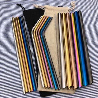 ⭐️ [Free mailing] Sharp stainless coloured Metal Straw
