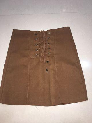 Brown Suede Skirt