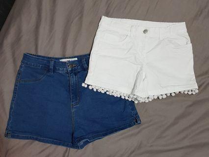 Girls size 12 denim shorts