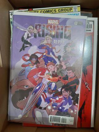 Marvel Comics MARVEL RISING ALPHA #1 Variant cover - dc avengers spiderman spider gwen