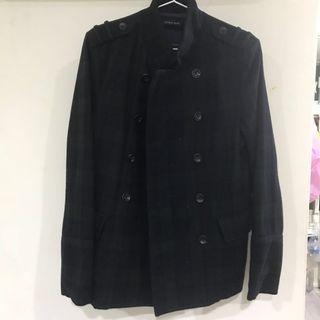🚚 Zara深綠格紋外套(二手)