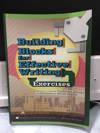Buillding blocks for effective writing exercise