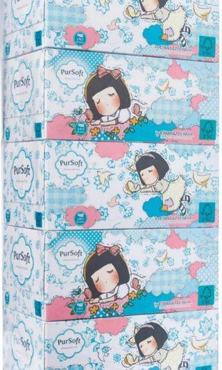 #MRTPunggol BrandNew PurSoft Chocolate Rain 3-Ply Facial Tissue Boxes