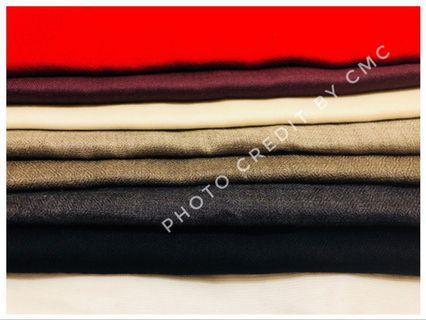 印度代購現貨 - 100%喀什米爾(cashmere)🐑頂級純色羊絨圍巾🧣