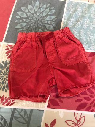 OshKosh red shorts for 3-6 months