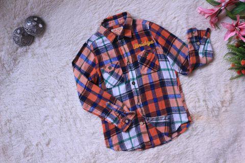 Boy long sleeve checkered shirt