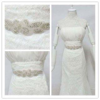 🆕結婚新娘裙閃石腰帶 wedding dress rhinestone sash belt
