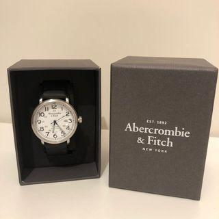 Abercrombie and Fitch Black Leather Watch for Men