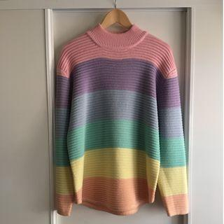 Unif Pastel Rainbow Knitted/Knit Jumper
