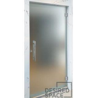 Frameless Tempered Glass Swing Door (Frosted Film)