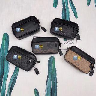 COACH 39946 50713 50715 男士新款全皮相機包 單肩斜跨包 胸包 潮流時尚 附購證