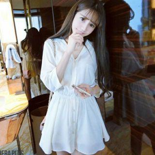 顯瘦白色洋裝