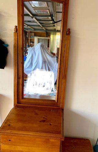 Large mirror with Storage box