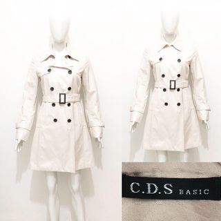 CDS basic trench coat / blazer coat / outer