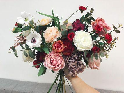 💯new: Wedding bridal floral bouquet 結婚花球