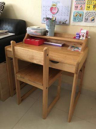Solid Wooden Table and Chair (Moving Out sales)