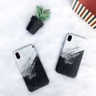 Black Ink Painting Hard Phone Case