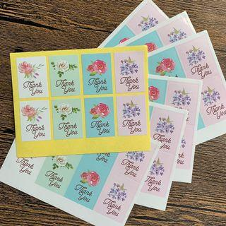 Free Postage 56 thank you stickers 7 sheets
