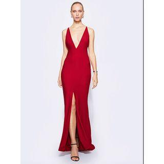 BRAND NEW WITH TAGS FAME & PARTNERS RED TEMPEST GOWN - SIZES 4 & 6 (RRP $260)