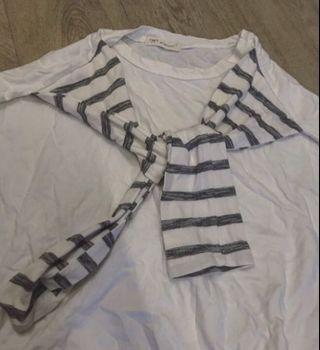 layered look top 假兩件tshirt
