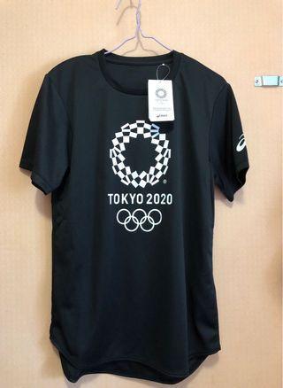 全新未剪牌🙆🏻Tokyo 2020 Olympic Official 官方 ASICS 黑色運動Tee T-shirt