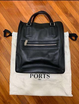 Ports 1961 men's leather tote 真皮 手挽袋 包
