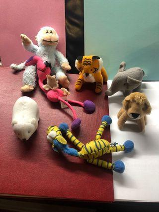 7 MaCDonald Soft Toys, New and Almost New, Cute. $1 Each, Let Go All 7 at $3