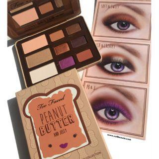 [正貨保証] 全新 Too faced Peanut Butter and Jelly Eye Shadow Collection eyeshadow set 眼影盤 網紅大熱 新年 賀年 禮物 情人節 禮物 Valentine's Day Valentine