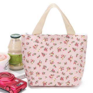 粉色小碎花保溫袋 飯盒袋