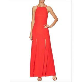 BNWT FAME & PARTNERS RED LEO DRESS - SIZES 10 & 12 AU (RRP $249)