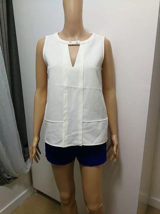 Zara Off White Top
