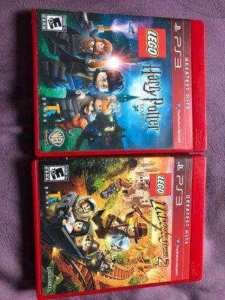 Sony PlayStation ps3 LEGO Harry Potter and Indiana Jones