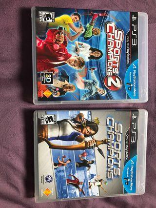 Sony PlayStation ps3 sport champion 1 and 2