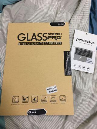 MacBook Pro Retina 15.4高清鋼化保護貼 (適用於有USB版本)