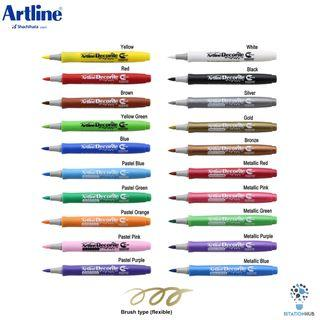 Artline Decorite Marker | Brush Style | Available in 20 Colours