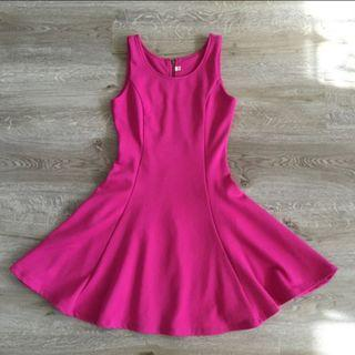 Fuchsia Pink Skater Dress