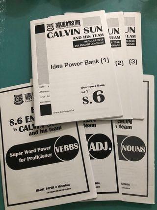 Calvin Sun S6 課程 十本書仔$120