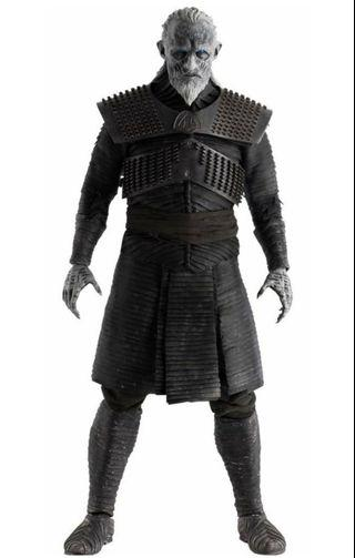 """Game of Thrones: 13"""" White Walker 1: 6 Scale Action Figure removable armor  Spear weapon and real fabric clothing"""