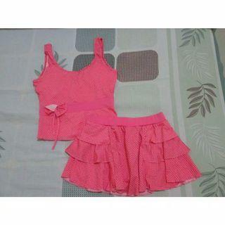Preloved Setelan Baju Renang Wanita Pink