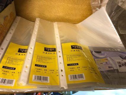 YOBO 11孔透明文件保護袋