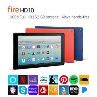 Amazon Fire HD 10 Tablet with Alexa Hands-Free, 32 GB
