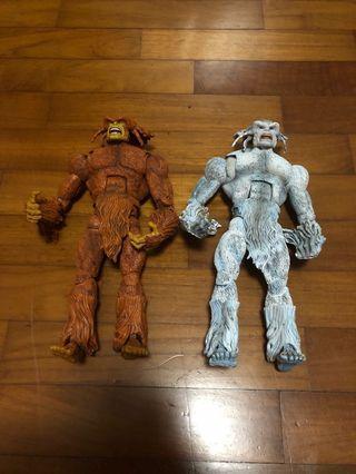 Marvel legends sasquatch white brown